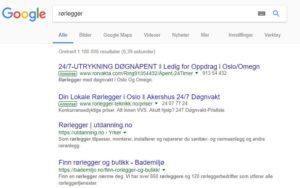 søkeresultat google